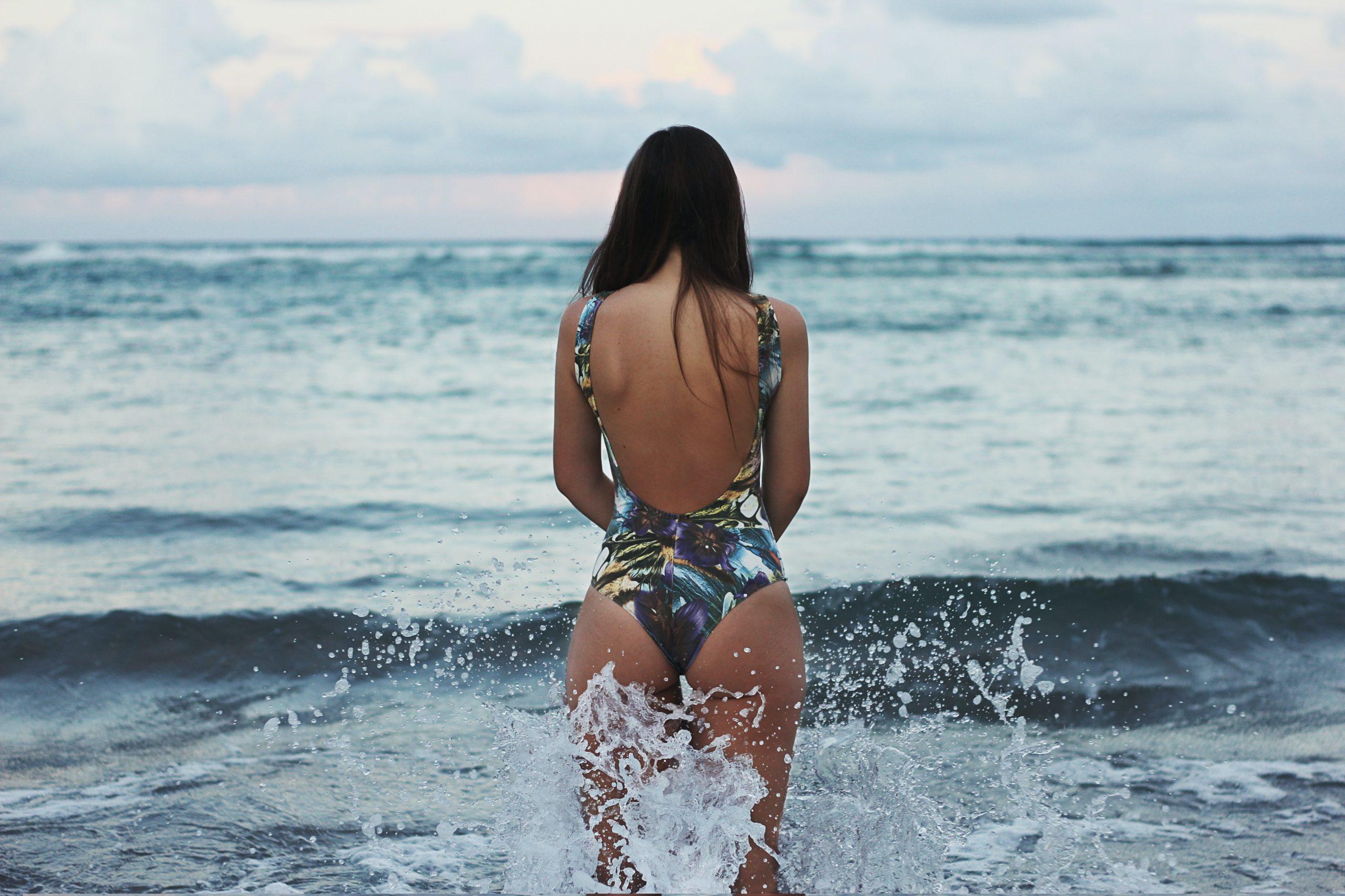 beach swim