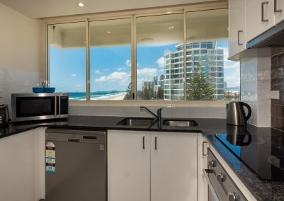 kitchen broadbeach self contained apartment