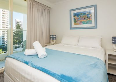 Viscount on the Beach bedroom with balcony