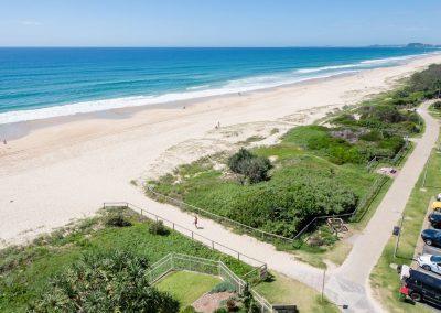 beach parking and coastline walk